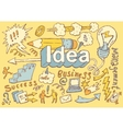 Business Idea doodles icon set sketch drawn vector image vector image