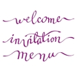 Calligraphy invitation card vector image