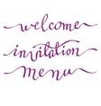 Calligraphy invitation card vector image