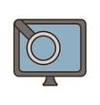 cartoon monitor search computer device vector image