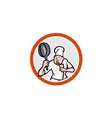 Chef Cook Holding Frying Pan Retro vector image vector image