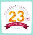 colorful polygonal anniversary logo 3 023 vector image vector image