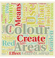 Colour in the Garden text background wordcloud vector image vector image