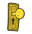 comic cartoon door knob vector image