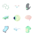 Computer latest devices icons set cartoon style vector image
