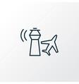 control tower icon line symbol premium quality vector image vector image