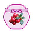 cowberry label vector image vector image