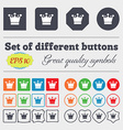 Crown icon sign Big set of colorful diverse vector image vector image