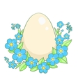 Easter egg isolated on white vector image vector image