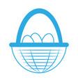 egg basket icon vector image