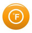 fahrenheit icon orange vector image