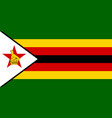 flag in colors of zimbabwe image vector image vector image