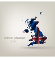 Flag of Great Britain as a country vector image vector image