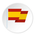 flag of spain icon circle vector image vector image