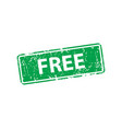 free stamp texture rubber cliche imprint web or vector image vector image