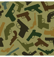 Guns seamless pattern vector image