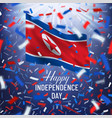 happy north korea day greeting card vector image vector image