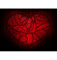 heart doodle background vector image vector image