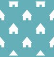 home pattern seamless blue vector image vector image