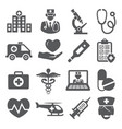 hospital icons set on white background vector image vector image