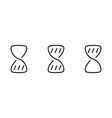 Hourglass wait set icons vector image vector image