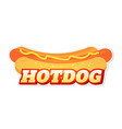 icon hot dog logo for fast food service vector image