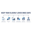 keep elderly people safe from coronavirus poster vector image vector image
