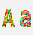 letter alow poly alphabetgeometric styleabstrac vector image vector image