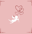 Lovely angel with hearts vector image vector image