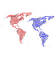 map of continent america vector image vector image