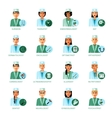 Medical Professions Avatars Set vector image