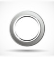 metal ring isolated vector image vector image