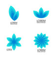 modern set blue abstract flowers trendy vector image vector image