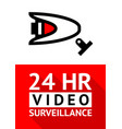 notice video cctv symbol sticker for print vector image
