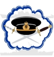 Officers cap Russian Navy officer and daggers vector image vector image