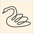 One line swan vector image