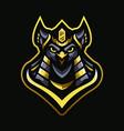 owl king pharaoh vector image vector image