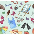 Pattern of summer symbols vector image vector image