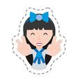 portrait japanese girl student uniform vector image vector image
