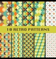 retro geometric patterns set vector image vector image
