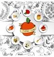 Rosh Hashanah Jewish New Year greeting cards set vector image vector image