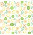 seamless pattern floral leaves tropical summer vector image vector image