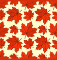 seamless pattern with maple autumn leaves vector image vector image