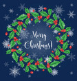 set christmas decorations vector image vector image