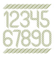 set of numerals created using guilloche pattern vector image