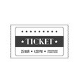 simple cinema ticket vector image vector image