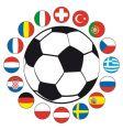 soccer bal vector image vector image
