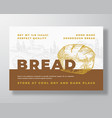 sourdough bread label template abstract vector image vector image