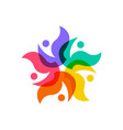 star people diversity family group team community vector image