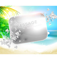 Summer Beach Wallpaper vector image vector image